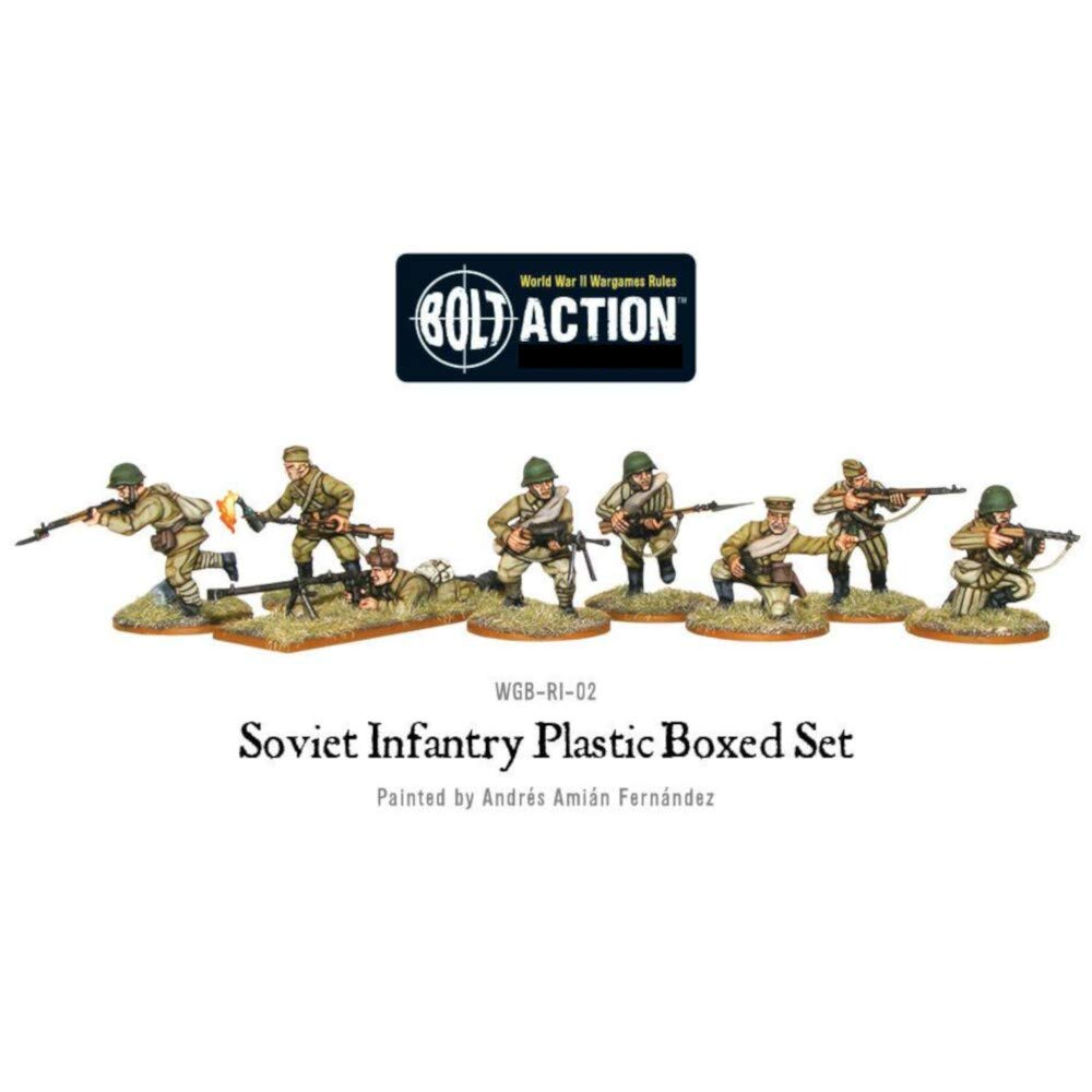 Bolt Action Soviet Red Army Infantry 1:56 WWII Military Wargaming Figures Plastic Model Kit
