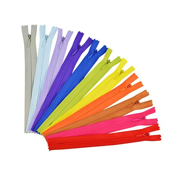 Jmkcoz 50pcs 7.8 Inch Sewing Zippers Nylon Invisible Zippers Tailor Sewer Craft for Sewing Assorted Colors Tailor Sewing Tools Garment Accessories Crafters Special