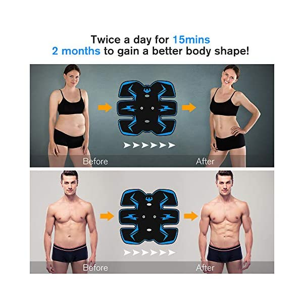 vcloo Abdominal Muscle Trainer Abs Stimulator Muscle Toner Upgraded Fitness Training Equipment Workout Equipment Portable for Men//Women Losing Weight Building Muscle