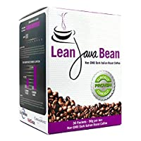 Lean Java Bean Instant Keto Weight Loss Coffee - #1 Keto Coffee for Slimming and 24/7 Ketosis | Delicious Non-GMO Dark Italian Roast Blend | 30 Pack