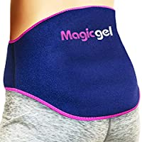 Back Pain Gel Pack: Proven Hot or Ice Cold Pack for Pain Relief (for Lower Lumbar, Sciatic Nerve, Degenerative Disc Disease, Coccyx, Tailbone Pain & More) Reusable & Flexible by Magic Gel (Twinpack)