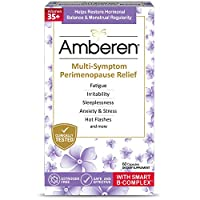 Amberen Peri: Safe Multi-Symptom Perimenopause Relief   Helps Restore Menstrual Regularity & Hormonal Balance   Relieves Fatigue, Stress, Hot Flashes, Anxiety & More - 1 Month Supply