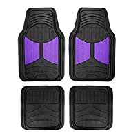 FH Group F11313 Monster Eye Trimmable Floor Mats (Purple) Full Set - Universal Fit for Cars Trucks and SUVs