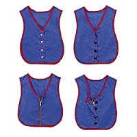 Children's Factory Manual Dexterity Vests, Toys for Developing Fine Motor Skills in 3-4 Year-Old Kids, Vests for Toddlers Learning Dexterity, Set of 4