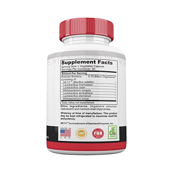 Ultra Potent Probiotics for Men and Women, 5.75 Billion CFU, Non GMO, 60 Day, Support for Immune and Digestive System, Gut Health, Mind
