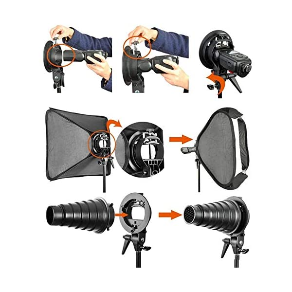 Godox 32x 32 80cmx80cm Foldable Softbox with Godox S-Type Bracket Bowens Mount Holder for V850 V850II V860 V860II TT600 TT685 AD200 AD200pro Series Studio Flash Strobe with Carrying Bag