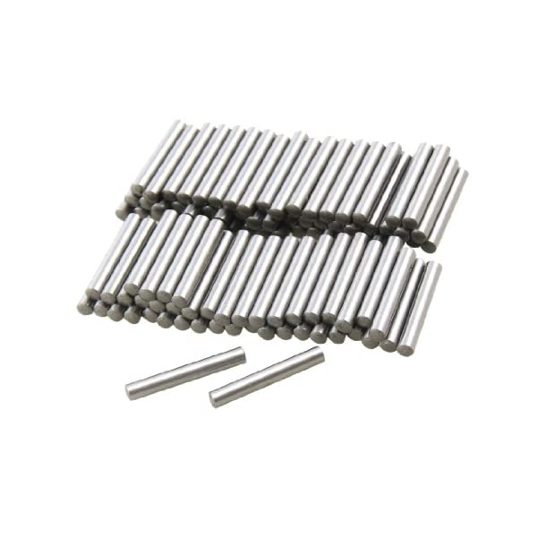 uxcell 100 Pcs Stainless Steel 2.8mm x 15.8mm Dowel Pins Fasten Elements