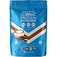 Iconic Protein Powder, Café Latte, 1 Lb (16 Servings) | Low Carb Protein Coffee | 20g Protein + 100mg Caffeine | Lactose Free Instant Coffee, Sugar Free Creamer, or Iced Coffee Powder | Keto Friendly