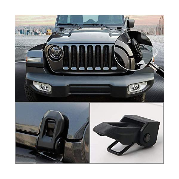 White kkone Black Stainless Steel Hood Latches Hood Lock Catch Latches Kit for Jeep Wrangler JK 2007-2017 Unlimited