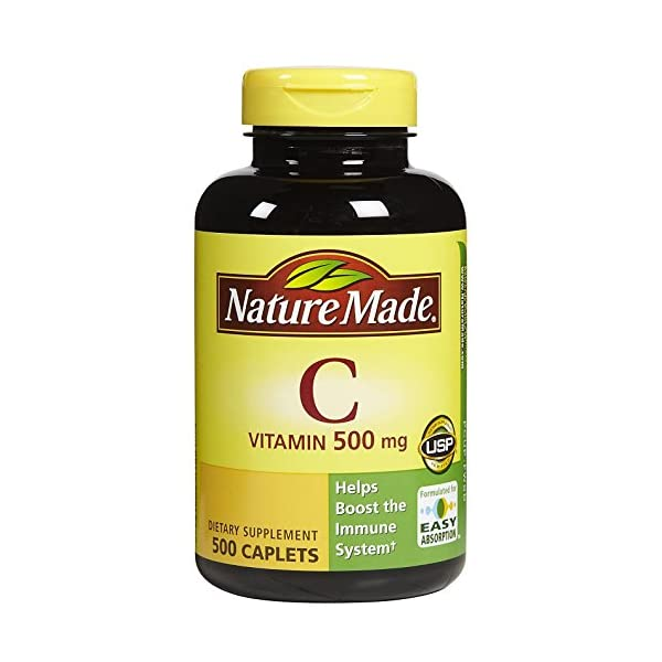 Nature Made Vitamin C 500 mg 500 count Caplets