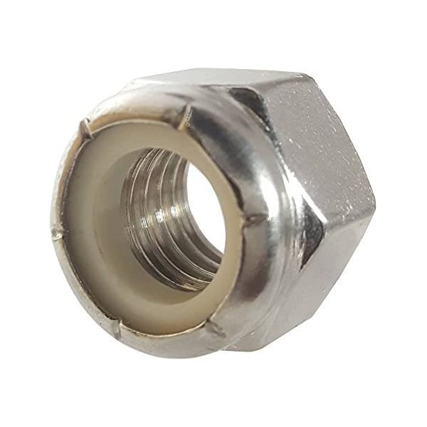 """3//8/""""-16 Finish Hex Nuts 50 Stainless Steel"""