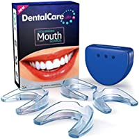 Professional Mouth Guard For Grinding Teeth, 2 Sizes, 4 Pieces Mouthguard, Moldable Night Guards For Teeth Grinding, Night Guard Eliminates Bruxism and Teeth Clenching, Antibacterial Dental Guard Case