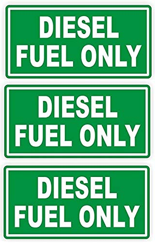 DIESEL NMC M52P Safety Sign Red On White DIESEL 12 Width x 4 Height 12 Width x 4 Height Pressure Sensitive Vinyl