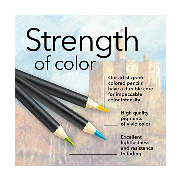 smooth colored cores perfect colors for /'Landscapes/' superior blending /& layering performance achieving great results Castle Arts Themed 24 Colored Pencil Set in Tin Box Featuring
