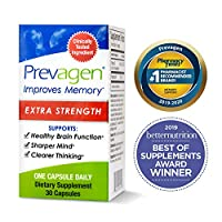 Prevagen Improves Memory - Extra Strength 20mg, 30 Capsules, with Apoaequorin & Vitamin D   Brain Supplement for Better Brain Health, Supports Healthy Brain Function and Clarity   Memory Supplement