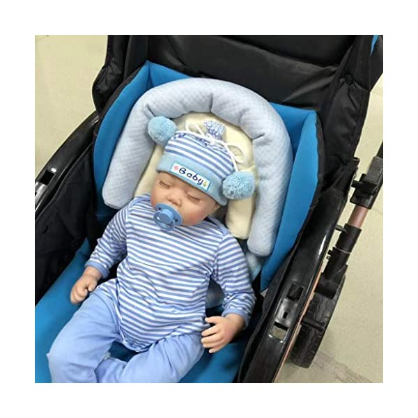 Grey Machine Washable Newborn Head Support for Car Seats and Strollers INFANZIA Head Support