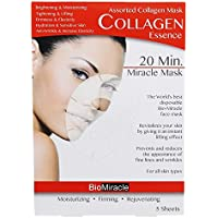 BioMiracle - 20 Minute Miracle Assorted Collagen Essence Facial Sheet Mask - 5 Count