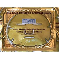 MyM 24k Gold Collegen Crystal Mask for Deep Tissue Rejuvenation and Collagen Renewal Mask X 10 Pcs.