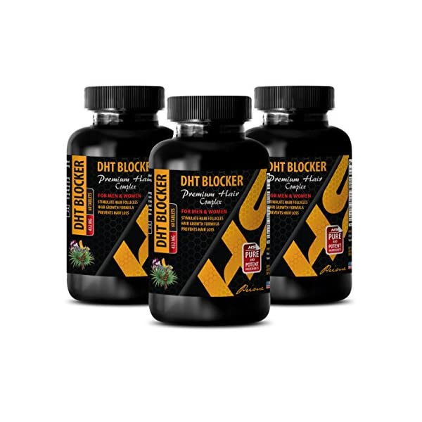 Hair Supplement for Women - DHT Blocker - Premium Hair Complex - for Men and Women - Saw Palmetto Capsules for Women - 3 Bottles 180 Tablets