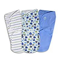 SwaddleMe Original Swaddle 3-PK, Graphic Car, Large (3-6 Months)