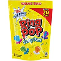 Ring Pop Individually Wrapped Variety Party Pack – 20 Count Candy Lollipop Suckers w/ Assorted Flavors-Easter Gift Basket Filler