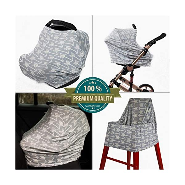 Stroller And Car Seat Cover For Boys And Girls Multi Use Breastfeeding Cover Up Shopping Cart Best Stretchy Infinity Scarf And Shawl Arrow Pattern High Chair Car Seat Canopy Nursing Cover Formtech Inc Com