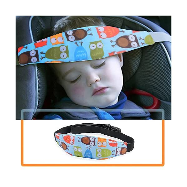 Blue WENTS Car Seat Head Support Adjustable Baby Car Seat Head Neck Relief Support Sleeping Seat Kids Head Strap Baby Car Headband Protections for Kids Children