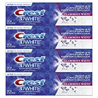 Crest Toothpaste 3D White Luxe Glamorous White, 4.1oz (Pack of 4)