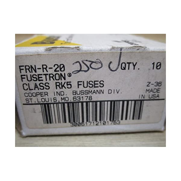 RK5 Dual Element Box of 10 Edison Replacement Time Delay Fuse 25 Amp 250V Fusetron FRN-R-25