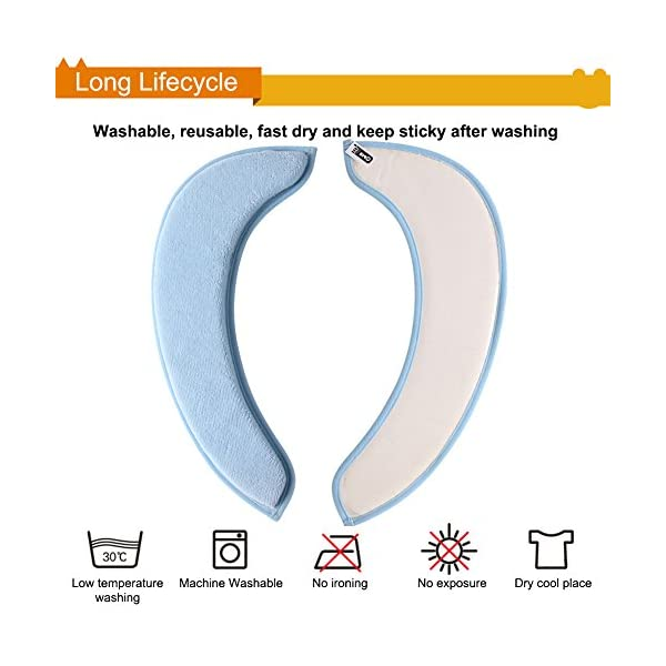 Toilet Seat Warmer Cover saounisi Adult Padded Cushion Blue 2 Pack Warm Soft Fuzzy Round Elongated Washable Disposable Stickers
