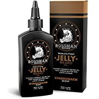Bossman Beard Oil (4oz) – Beard Softener, Bigger Bottle, Thicker Growth, All Natural, American Made, Non Greasy Jelly Beard Oil (Stagecoach Scent) Product Name