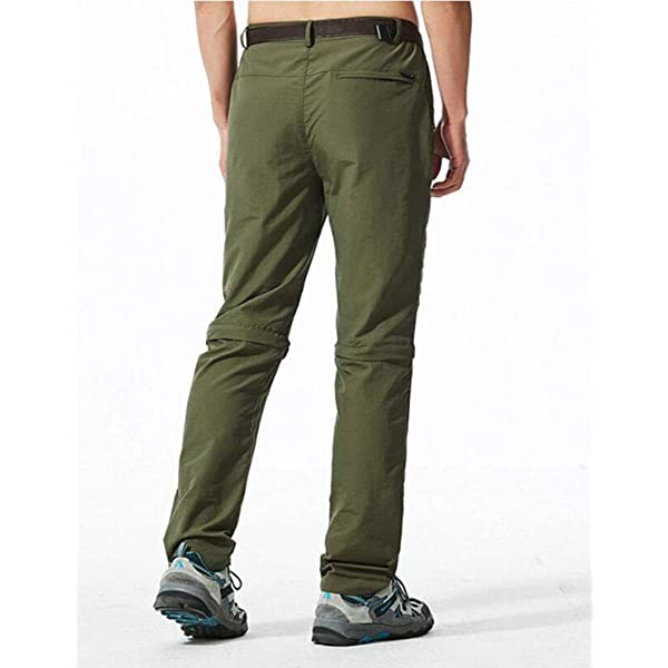 Amoystyle Mens Water-Repellent Quick Dry Convertible Pants