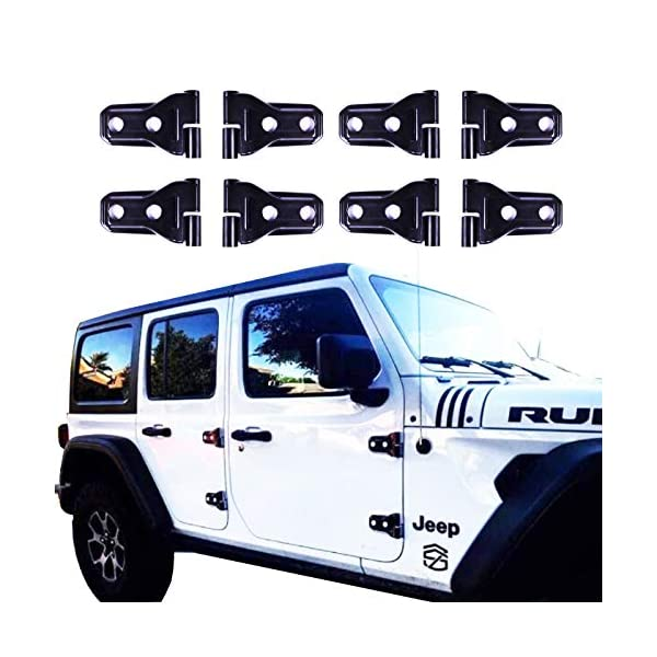 Pack of 2 Black JeCar Hood Hinge Cover for 2018 Jeep JL Wrangler /& Unlimited