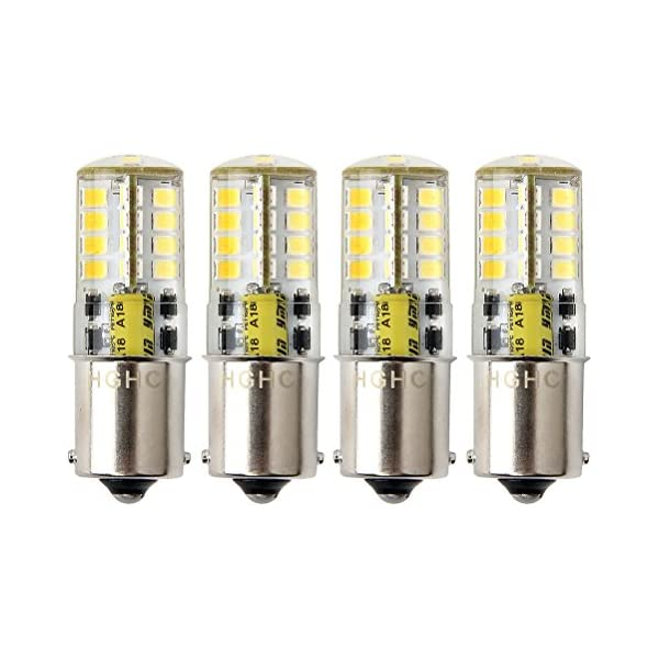 RV Pack of 4 Auto Car Waterproof Lamp 5 Watt Cool White 6000K 500LM for Boat Led BA15s Bulb 12V AC//DC 1156 1141 S8 Single Contact Base Outdoor Landscape Lighting etc