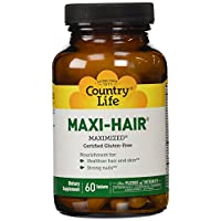 Country Life Maxi Hair, 60-Tablet