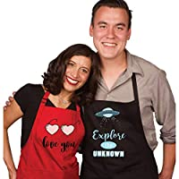 Mr Mrs Wedding Gifts for the Couple & Bridal Shower Gifts   Perfect for Couples Gifts   Engagement Party   Anniversary   His and Her Aprons   Valentines Day   Holidays   Funny Gift   Christmas