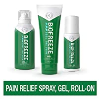Biofreeze Pain Relief Gel Multi-Pack, Includes Tube, Spray, and Roll-On Formulas of the #1 Clinically Recommended Topical Analgesic