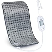 XL Electric Heating Pad for Back Pain with Auto Shut Off in 90 min, Dry Heat Only, 3 Heat Level Settings, 100% Soft Comfortable Polyester XL Extra Large King Size 12