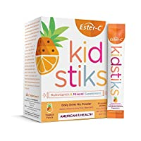 American Health Ester-C Kidstiks Powder Packets - 250 mg - Tropical Punch - 30 Packets (30 Servings)