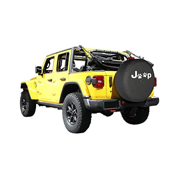 - Paw Prints Boomerang - 245//75R17 32 Soft JL Tire Cover for use with 2018-2019 Jeep Wrangler JL Sport with Back-up Camera