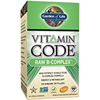 Garden of Life B Vitamin - Vitamin Code Raw B Complex Whole Food Supplement, Vegan, 60 Capsules