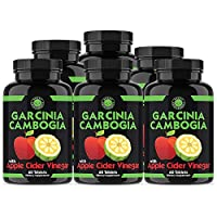 Angry Supplements Garcinia Cambogia with Apple Cider Vinegar Pills for Weightloss - Natural Detox Remedy Includes Gymnema, Cinnamon, Ketone for a Complex Diet, Health, and Nutrition (6-Pack)