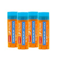 O'Keeffe's Cooling Relief Lip Repair Lip Balm for Dry, Cracked Lips, Stick, (Pack of 4)