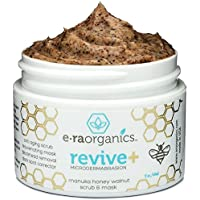 Microdermabrasion Facial Scrub & Face Exfoliator - Natural Exfoliating Face Mask with Manuka Honey & Walnut - Moisturizing Facial Exfoliant for Dull Dry Skin Care, Wrinkles, Acne & More Era-Organics