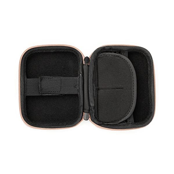 DURAGADGET Rose Gold EVA Shell Case w//Carabiner Clip /& Twin Zips Ideal for Storing Your Blue Inhalers Relievers for Asthma