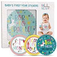 28 Pack Baby Monthly Milestone Stickers for Girls