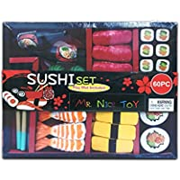 Mr. Nice Toy MIG-170844SDS 60 Piece Sushi Set Complete with Bento Box and Play Mat, multi