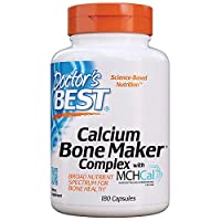 Doctor's Best Calcium Bone Maker Complex with MCHCal, Non-GMO, Gluten Free, Soy Free, 180 Caps