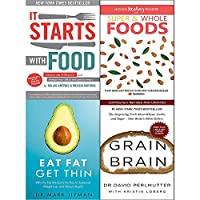 It starts with food [hardcover], hidden healing powers, eat fat get thin and grain brain 4 books collection set