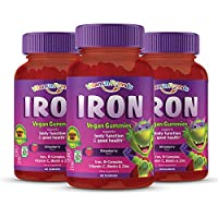 Vitamin Friends Gummy Bear Iron Supplement for Kids (3 Pack - 90 Day Supply) with B-Complex, Vitamin C, Zinc, Biotin - Iron Gummies Support Children Healthy Body Function